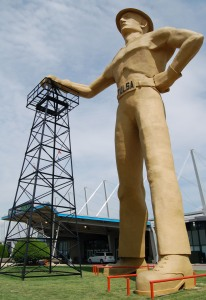 The very large Golden Driller - Tulsa, Oklahoma