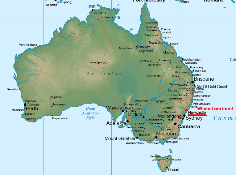 How Big Is Australia – Big Map of Australia