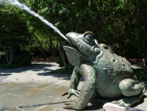 Frog Fountain - Dallas Arboretum