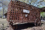 The Jail Wagon (originally had a wooden floor 1/2 way up the sides)