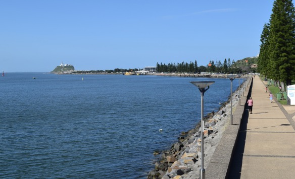 Newcastle Harbour (the view from where I enjoyed my cider)!