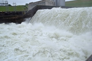 The Floodgates at Denison Dam