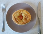 a tomato & onion pie for one!