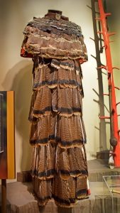 Cloak made from turkey feathers