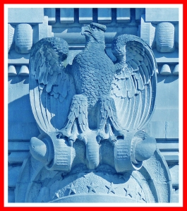 The American Eagle (this one sits on the entrance to the main building at Ellis Island )