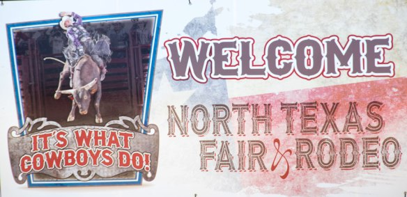 North Texas Fair & Rodeo Welcome sign