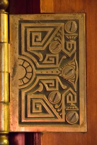 Decorative door hinge