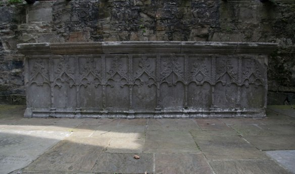 Carved stone altar at Sligo Abbey