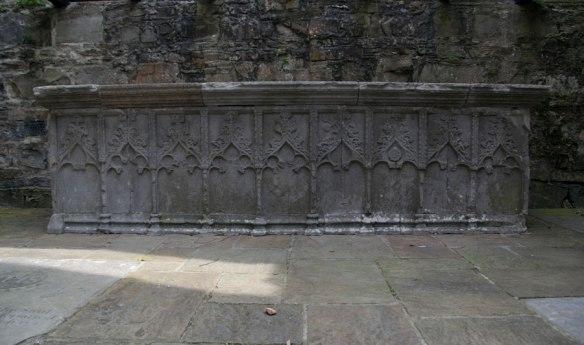 Carved stone altar at Sligo Abbey