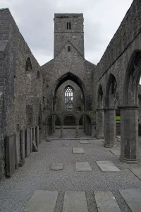 Looking down the nave at Sligo Abbey