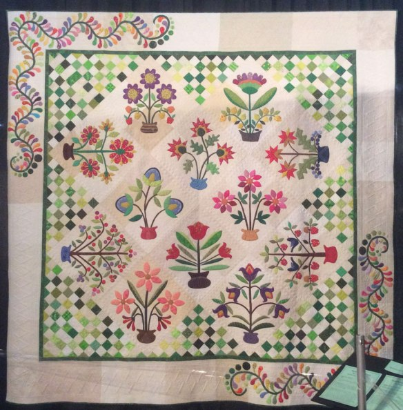 This quilt is one of Becky's designs - Piece O'Cake on display at the INternational Quilt Market and Festival