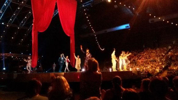 Taken at the end of the show - I was too engrossed to take pictures during the performances!
