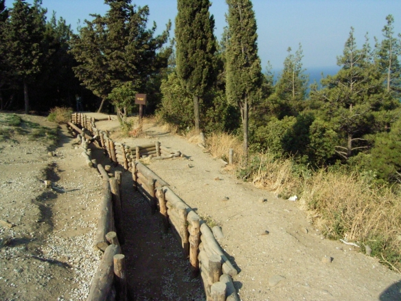 Some of the trenches around Gallipoli