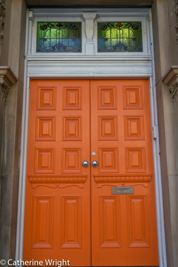 Who doesn't love an orange door!
